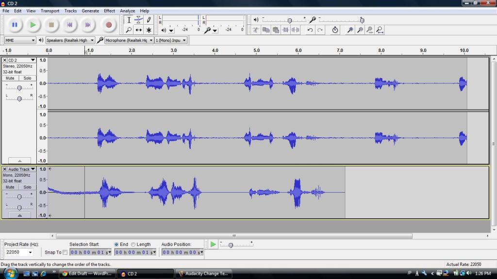 Audacity Shadowing