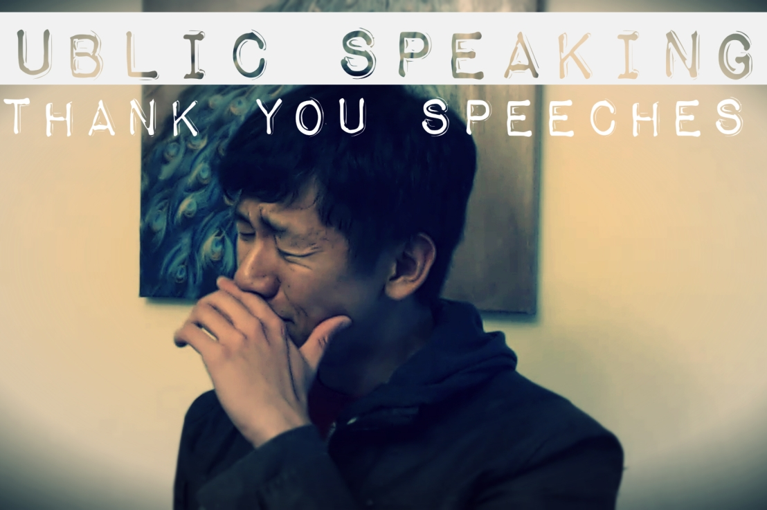 Public Speaking: How to Give Thank YouSpeeches